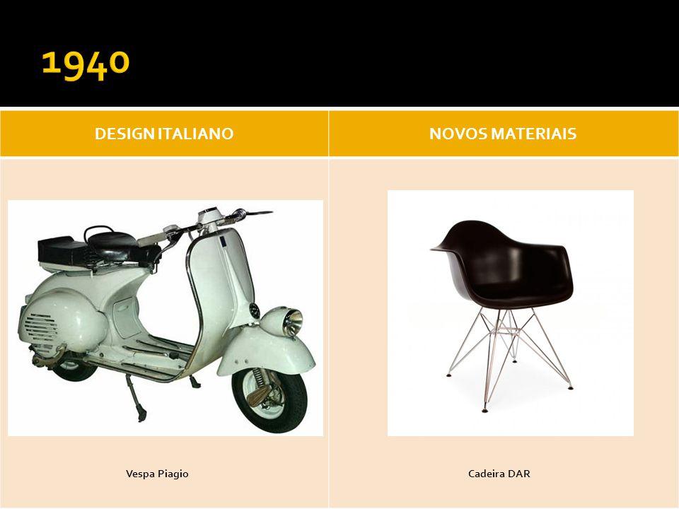 DESIGN ITALIANONOVOS MATERIAIS Vespa PiagioCadeira DAR