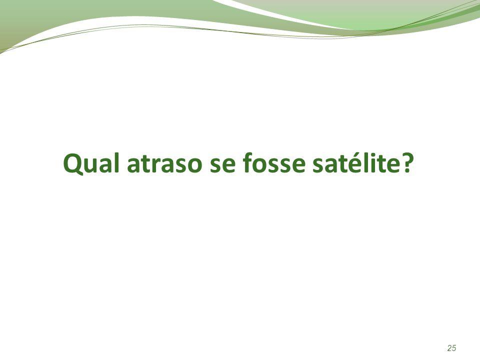 Qual atraso se fosse satélite? 25