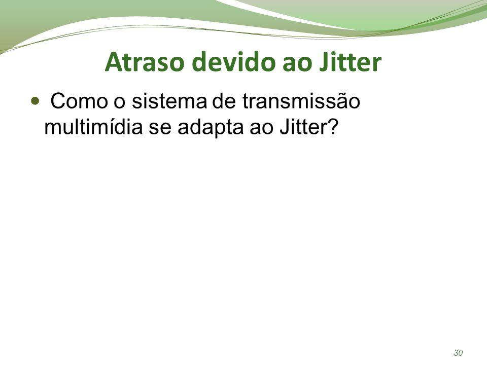 Atraso devido ao Jitter Como o sistema de transmissão multimídia se adapta ao Jitter? 30