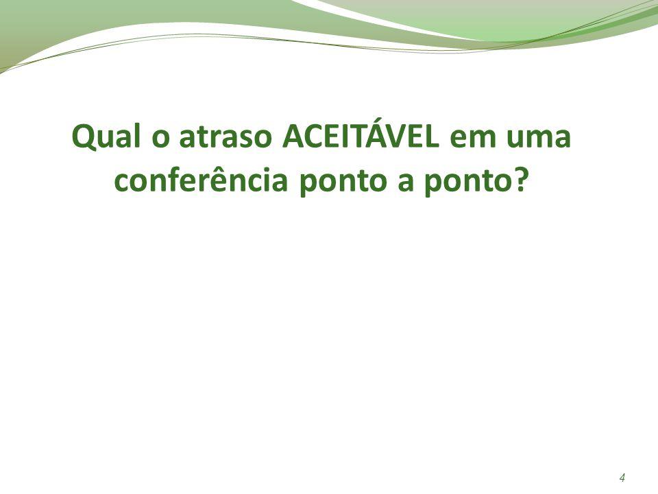 Qual o atraso ACEITÁVEL em uma conferência ponto a ponto? 4