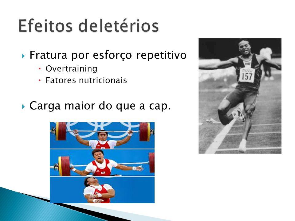 Fratura por esforço repetitivo Overtraining Fatores nutricionais Carga maior do que a cap.