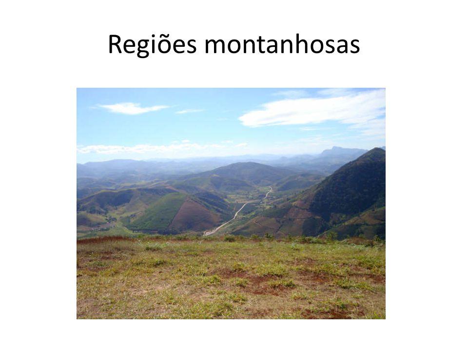Regiões montanhosas