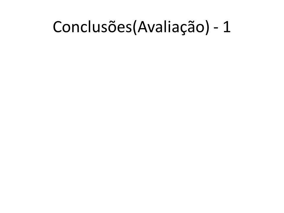 Conclusões(Avaliação) - 1