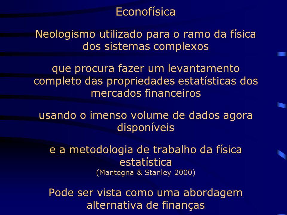 Eficiência Informacional Exemplos de testes econométricos para a eficiência fraca são os efeitos intraday, dia da semana, sazonalidade dos retornos e