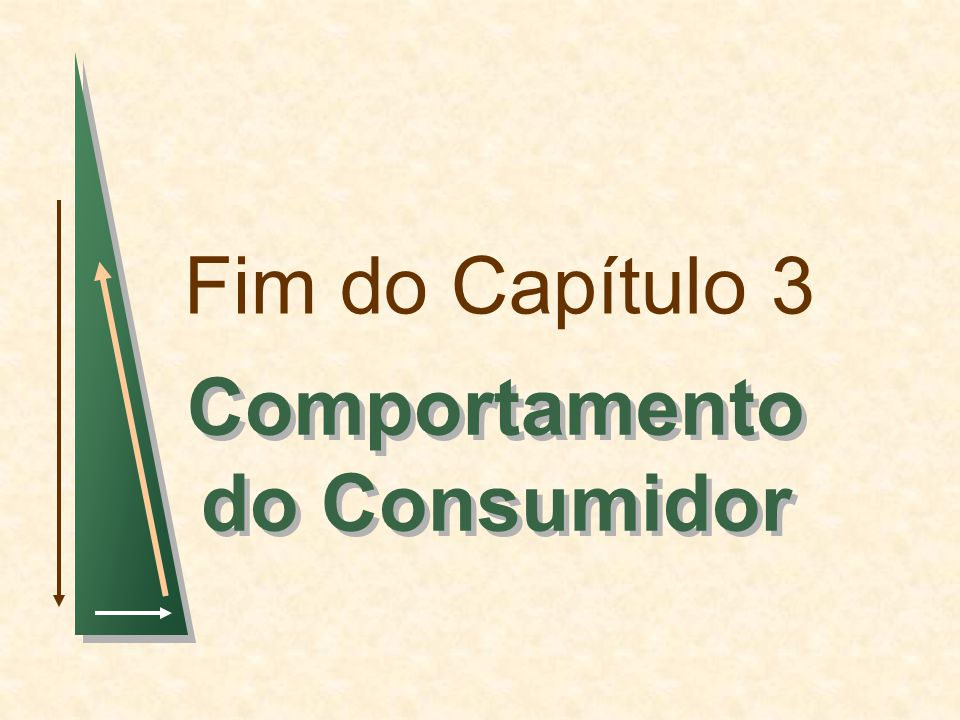 Fim do Capítulo 3 Comportamento do Consumidor