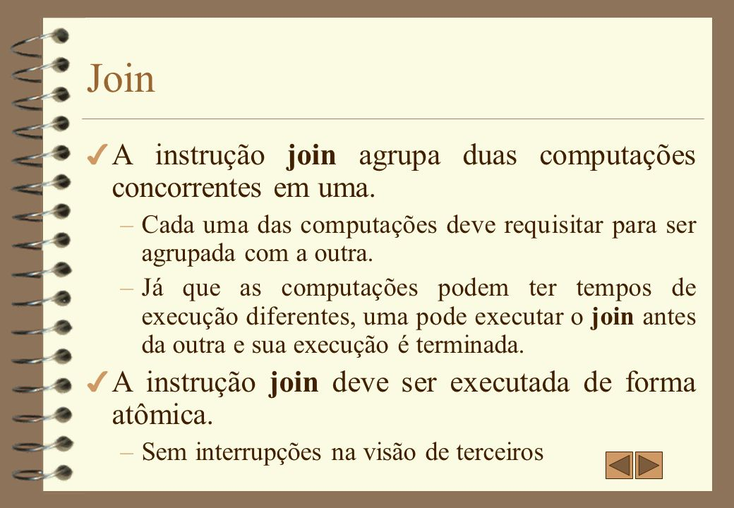 Join - Exemplo 1 count := 2; fork L1;...