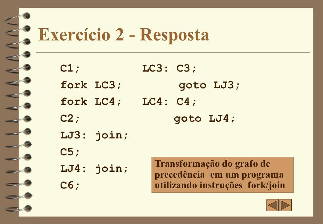 Exercício 3 4 Transforme o grafo de prcedência abaixo em um programa fork/join e em parbegin/parend.
