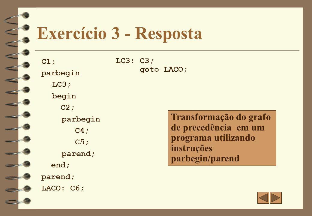 Exercício 4 4 Implemente o grafo de precedência abaixo utilizando fork/join.