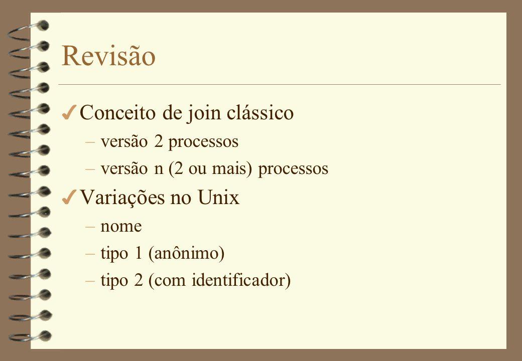 Revisão 4 Parbegin/parend –estático ou dinâmico.–implícito ou estático.