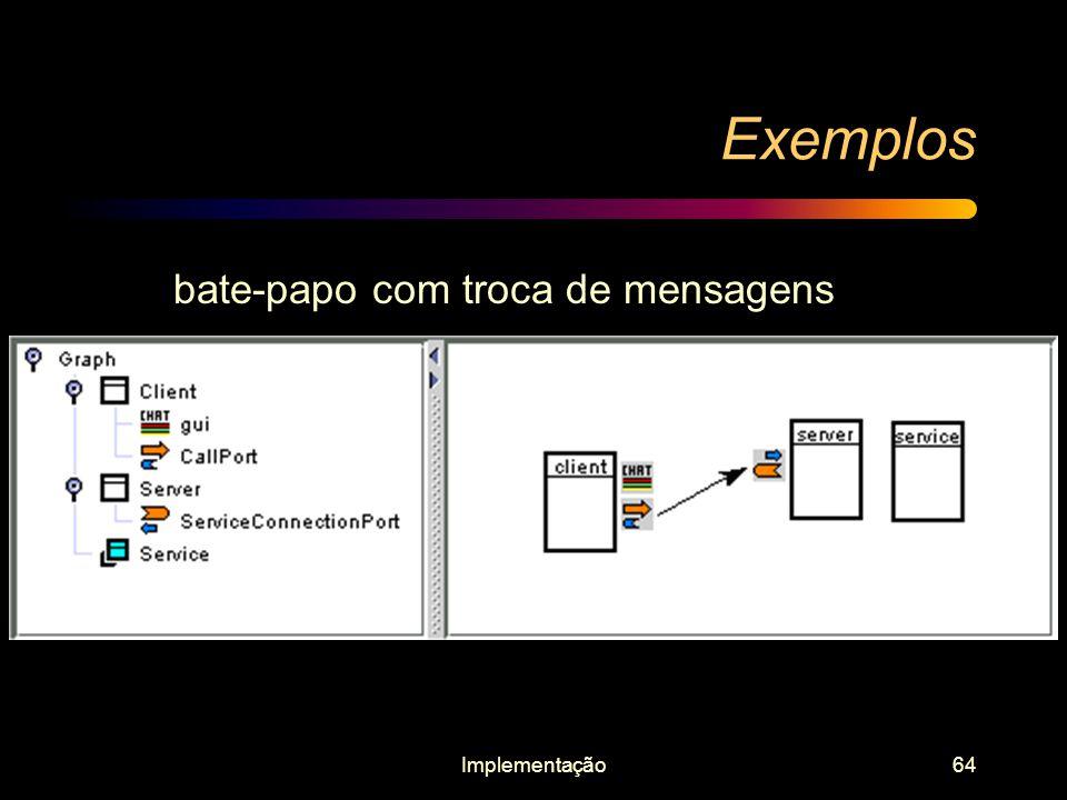 Implementação64 Exemplos bate-papo com troca de mensagens
