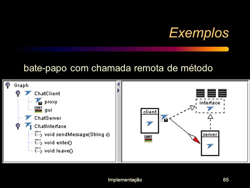 Implementação65 Exemplos bate-papo com chamada remota de método