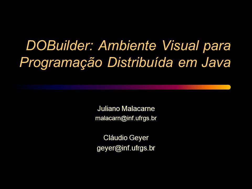 DOBuilder: Ambiente Visual para Programação Distribuída em Java Juliano Malacarne malacarn@inf.ufrgs.br Cláudio Geyer geyer@inf.ufrgs.br