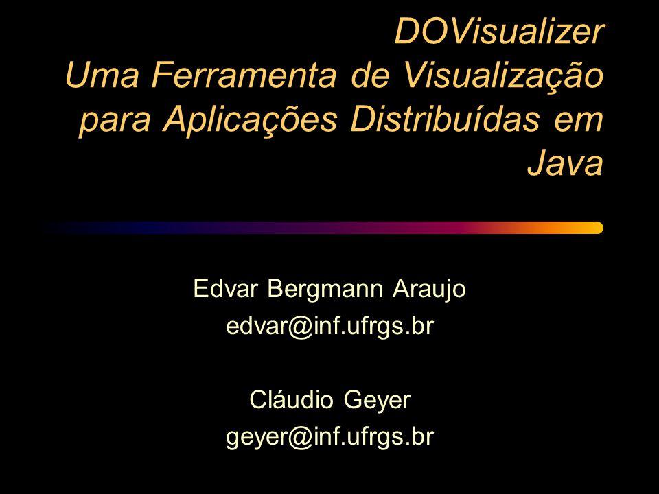 DOVisualizer Uma Ferramenta de Visualização para Aplicações Distribuídas em Java Edvar Bergmann Araujo edvar@inf.ufrgs.br Cláudio Geyer geyer@inf.ufrg
