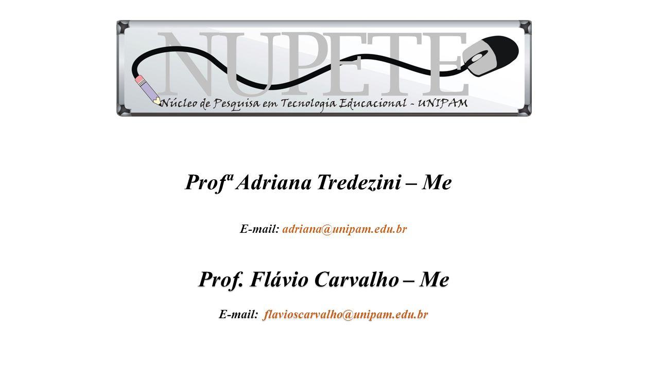 Profª Adriana Tredezini – Me E-mail: adriana@unipam.edu.br Prof.