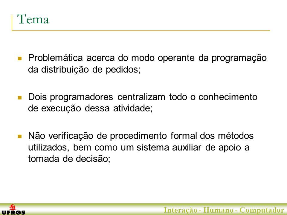 Porto Alegre, 29 de Junho de 2007 Interação - Humano - Computador Objetivos Pode ser projetada uma interface para um sistema específico de programação de rotas, que estabeleça procedimentos e auxilie os operadores na execução de suas tarefas.