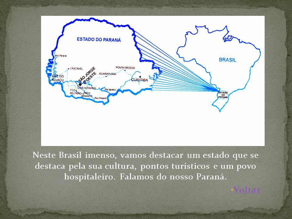 Neste Brasil imenso, vamos destacar um estado que se destaca pela sua cultura, pontos turísticos e um povo hospitaleiro.