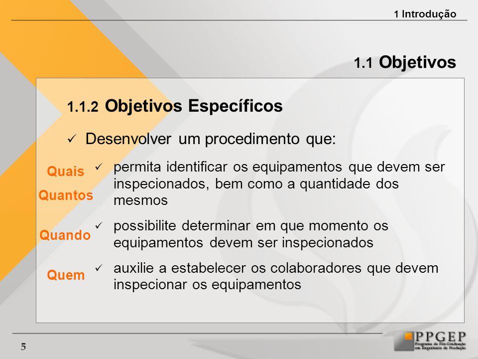 6 1.1 Objetivos 1.1.2 Objetivos Específicos Aplicar o método proposto em uma empresa que possua equipamentos instalados em grandes quantidades e em extensas áreas geográficas Avaliar o método proposto 1 Introdução