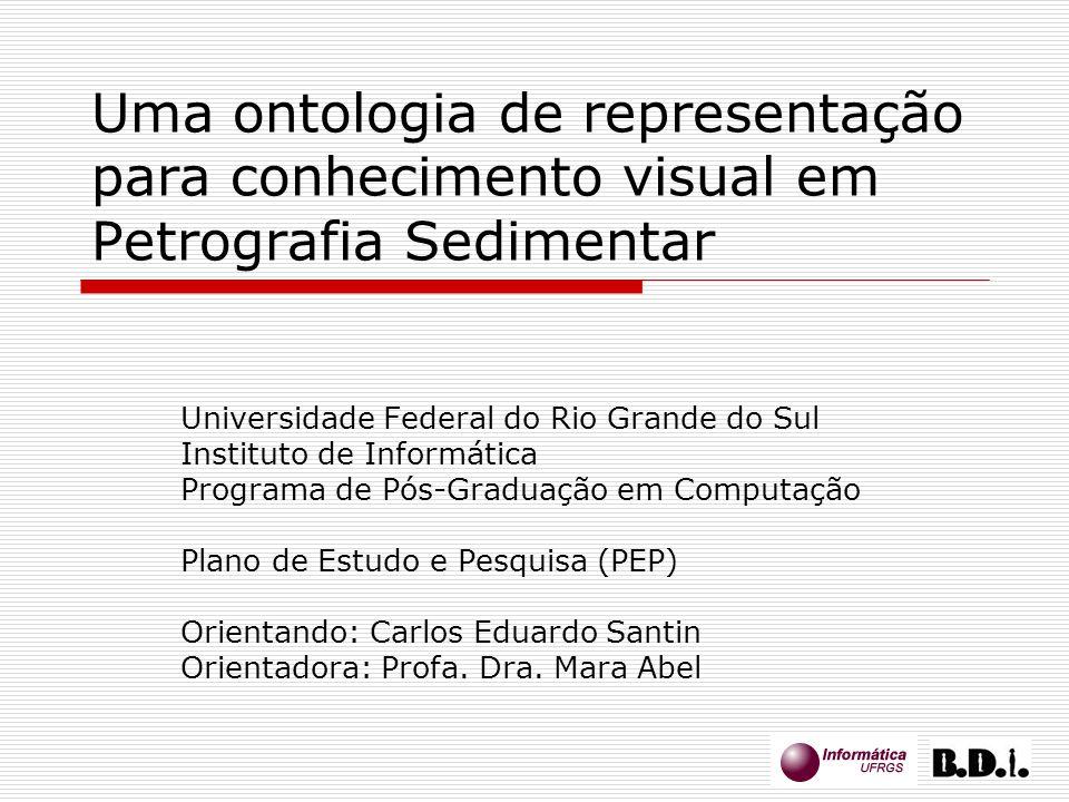 17 Uma ontologia de representação para conhecimento visual em Petrografia Sedimentar Universidade Federal do Rio Grande do Sul Instituto de Informátic