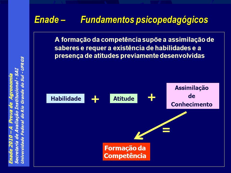 Enade 2010 – A Prova de Agronomia Secretaria de Avaliação Institucional - SAI Universidade Federal do Rio Grande do Sul - UFRGS A formação da competên