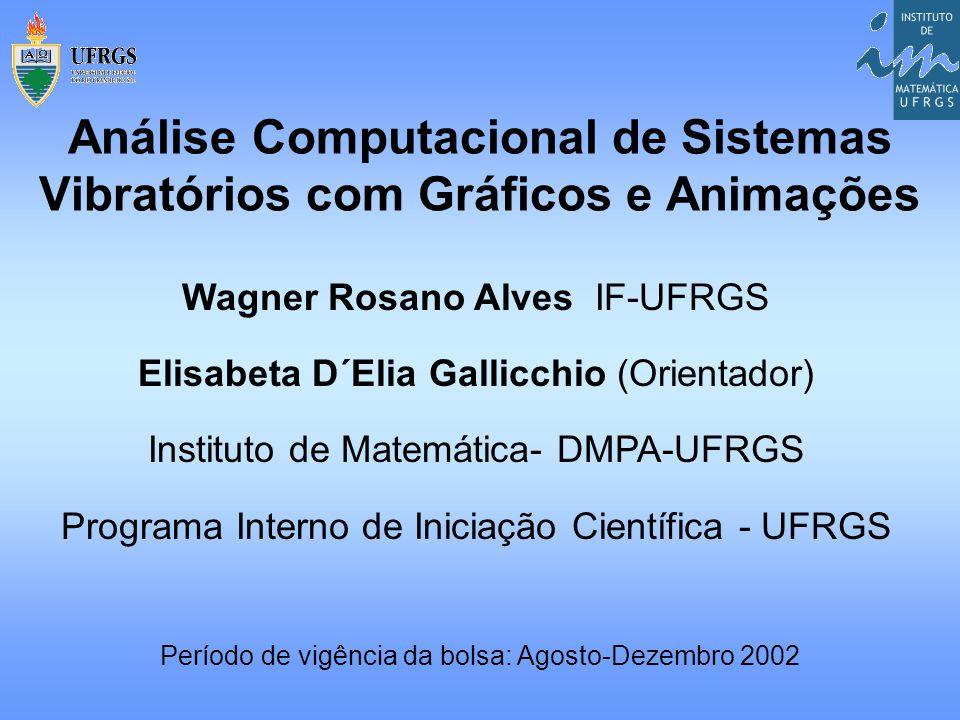 Wagner Rosano Alves IF-UFRGS Elisabeta D´Elia Gallicchio (Orientador) Instituto de Matemática- DMPA-UFRGS Programa Interno de Iniciação Científica - U