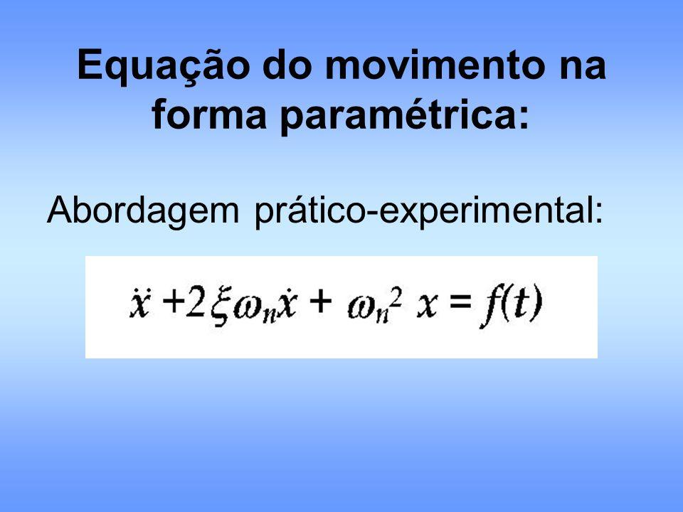 Equação do movimento na forma paramétrica: Abordagem prático-experimental: