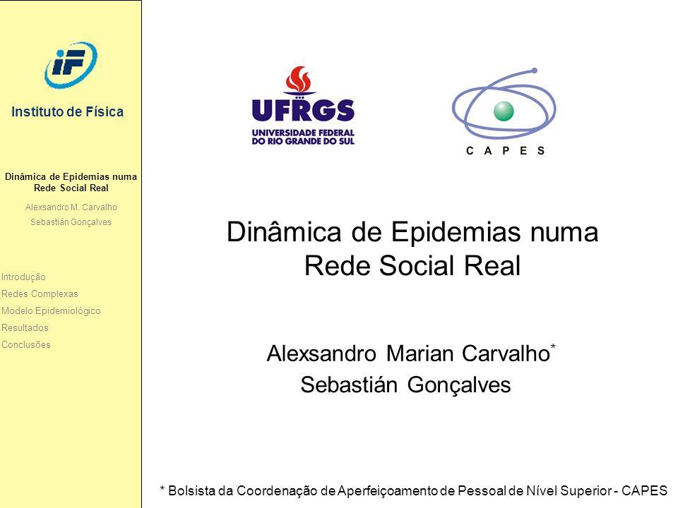 Instituto de Física Dinâmica de Epidemias numa Rede Social Real Alexsandro M. Carvalho Sebastián Gonçalves Dinâmica de Epidemias numa Rede Social Real