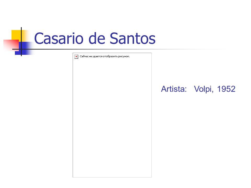 Casario de Santos Artista: Volpi, 1952