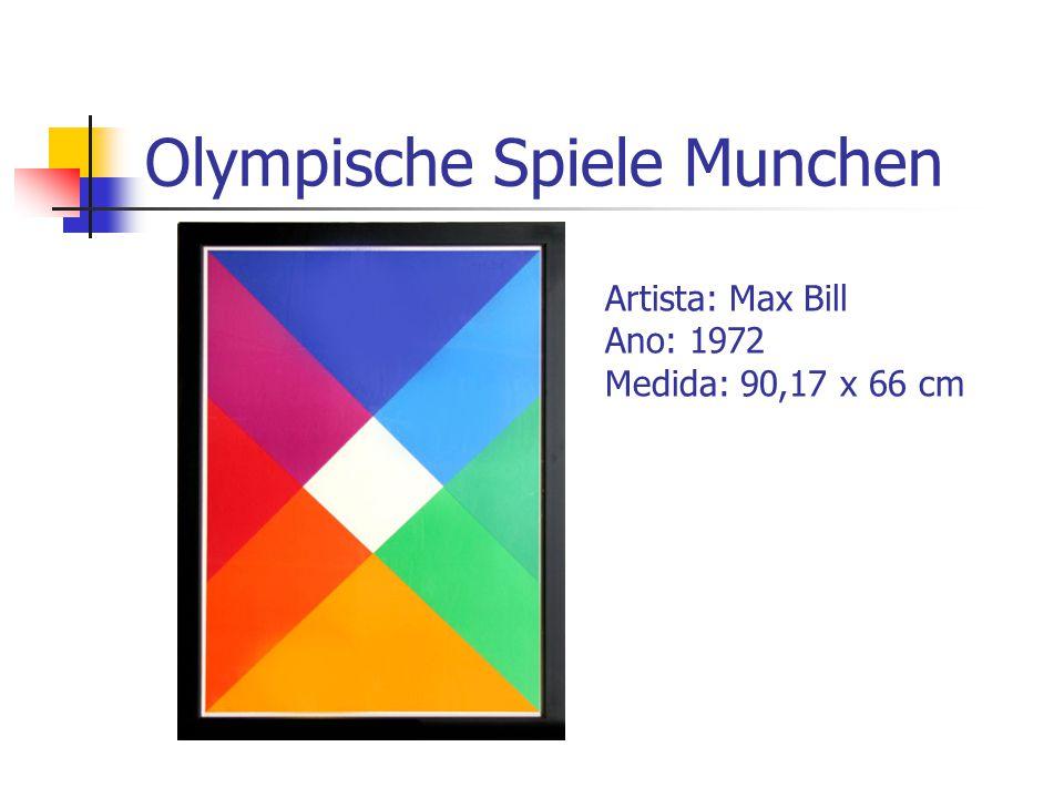 Olympische Spiele Munchen Artista: Max Bill Ano: 1972 Medida: 90,17 x 66 cm