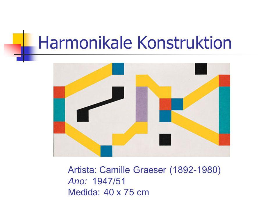 Harmonikale Konstruktion Artista: Camille Graeser (1892-1980) Ano: 1947/51 Medida: 40 x 75 cm