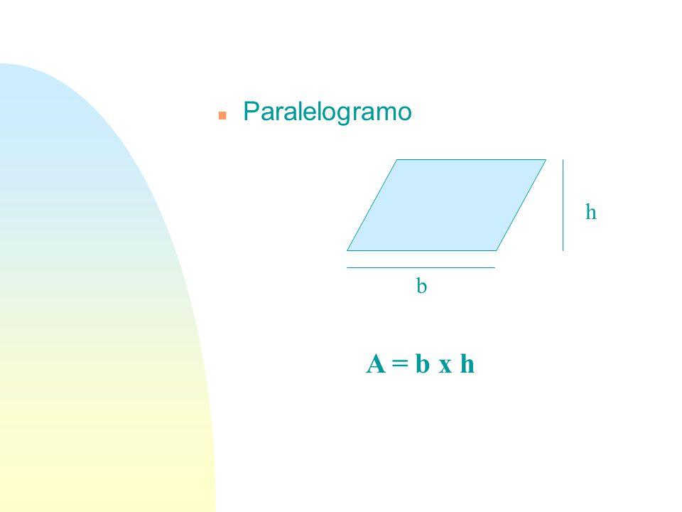n Paralelogramo h b A = b x h