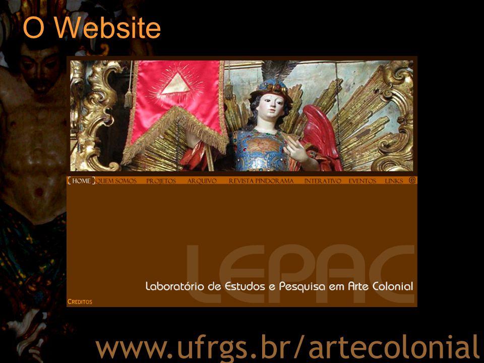 O Website www.ufrgs.br/artecolonial