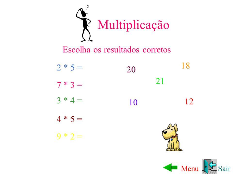 Subtração SairMenu Escolha os resultados corretos 7 - 5 = 19 - 3 = 17 - 6 = 11 - 2 = 16 11 2 9 9 - 5 = 4