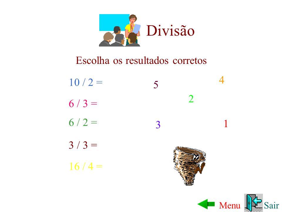 Multiplicação SairMenu Escolha os resultados corretos 2 * 5 = 7 * 3 = 3 * 4 = 4 * 5 = 20 21 18 10 9 * 2 = 12