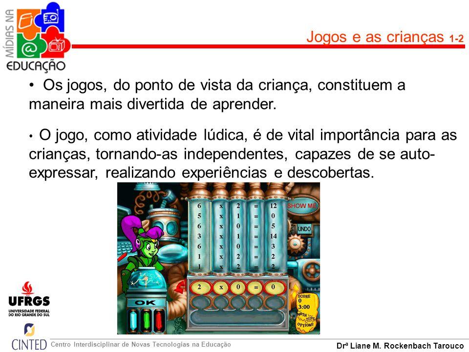 Drª Liane M. Rockenbach Tarouco Centro Interdisciplinar de Novas Tecnologias na Educação Jogos e as crianças 1-2 Os jogos, do ponto de vista da crianç