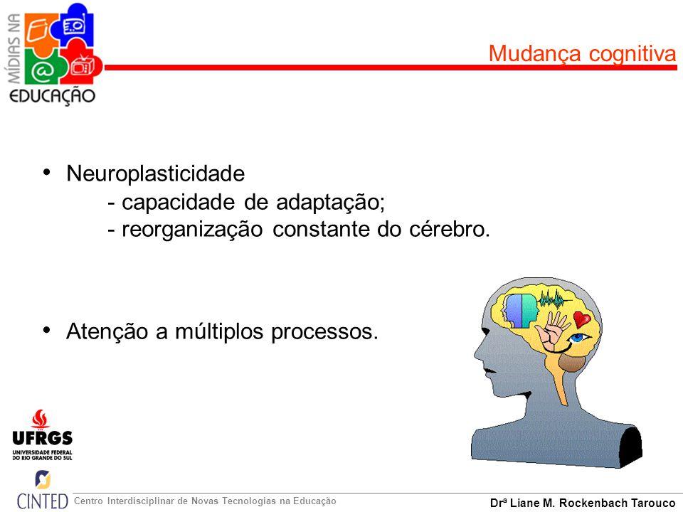 Drª Liane M. Rockenbach Tarouco Centro Interdisciplinar de Novas Tecnologias na Educação Mudança cognitiva Neuroplasticidade - capacidade de adaptação