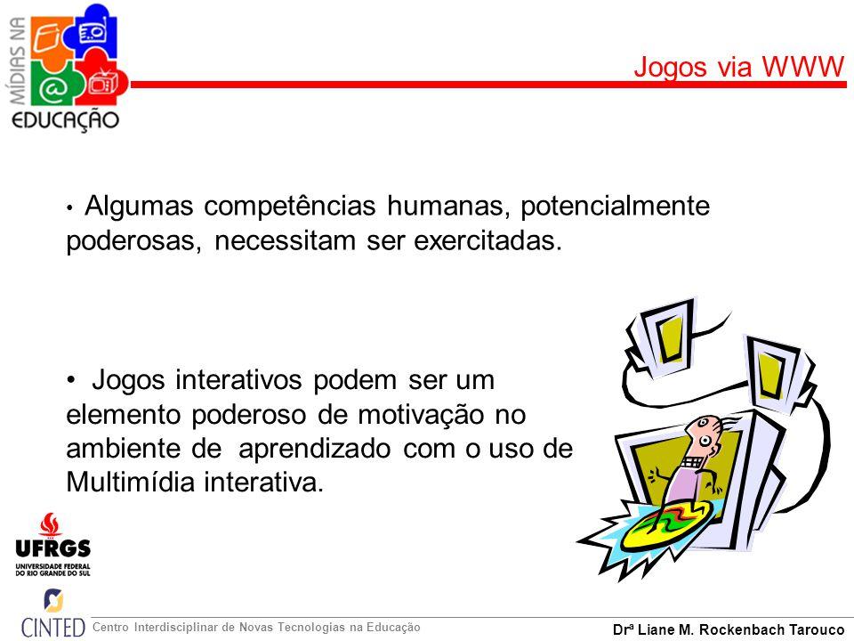 Drª Liane M. Rockenbach Tarouco Centro Interdisciplinar de Novas Tecnologias na Educação Jogos via WWW Algumas competências humanas, potencialmente po