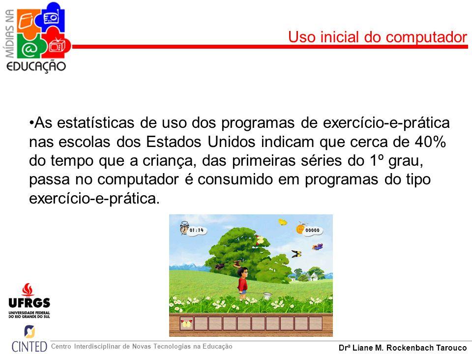 Drª Liane M. Rockenbach Tarouco Centro Interdisciplinar de Novas Tecnologias na Educação Uso inicial do computador As estatísticas de uso dos programa