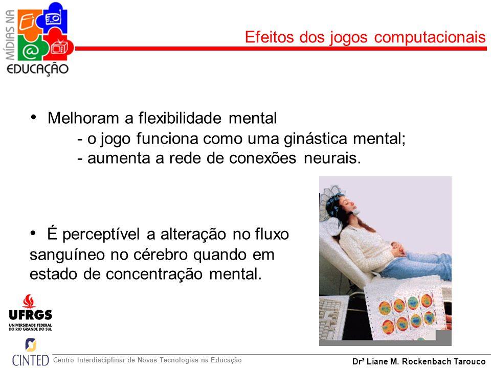 Drª Liane M. Rockenbach Tarouco Centro Interdisciplinar de Novas Tecnologias na Educação Efeitos dos jogos computacionais Melhoram a flexibilidade men