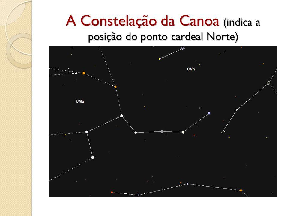 A Constelação da Canoa (indica a posição do ponto cardeal Norte)