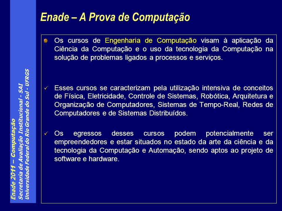 Os cursos de Engenharia de Computação visam à aplicação da Ciência da Computação e o uso da tecnologia da Computação na solução de problemas ligados a