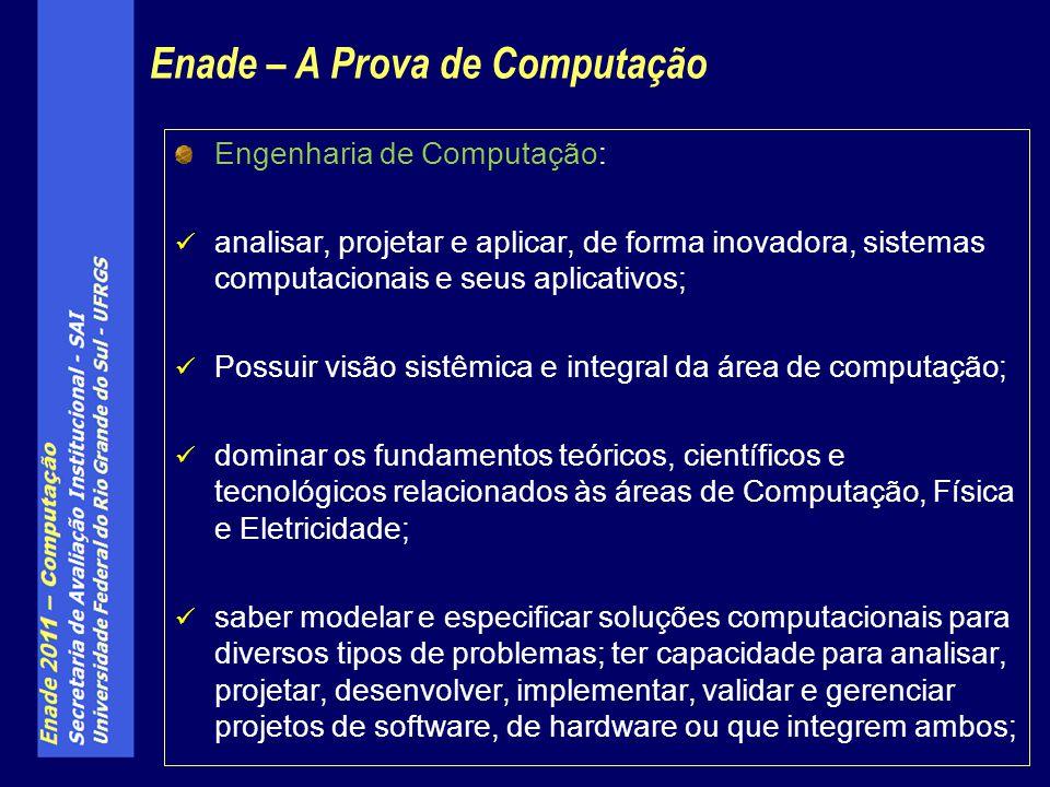 Engenharia de Computação: analisar, projetar e aplicar, de forma inovadora, sistemas computacionais e seus aplicativos; Possuir visão sistêmica e inte