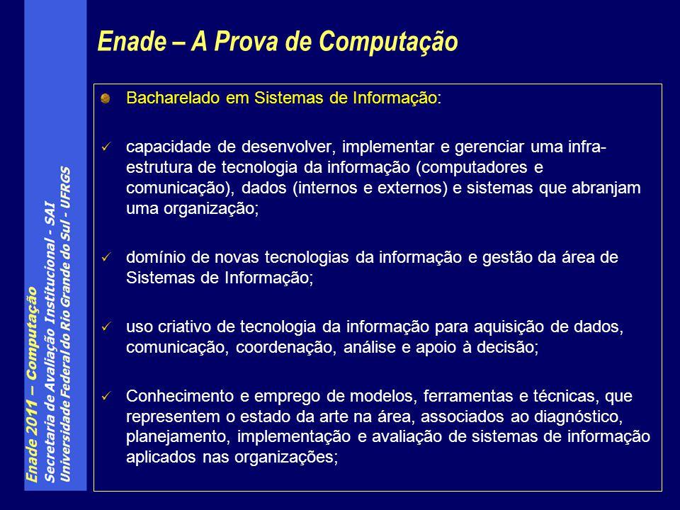 Bacharelado em Sistemas de Informação: capacidade de desenvolver, implementar e gerenciar uma infra- estrutura de tecnologia da informação (computador