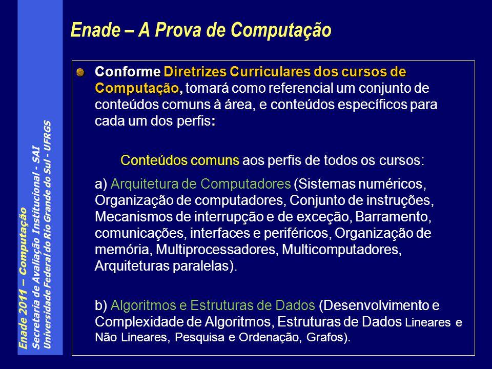 Conforme Diretrizes Curriculares dos cursos de Computação, : Conforme Diretrizes Curriculares dos cursos de Computação, tomará como referencial um con