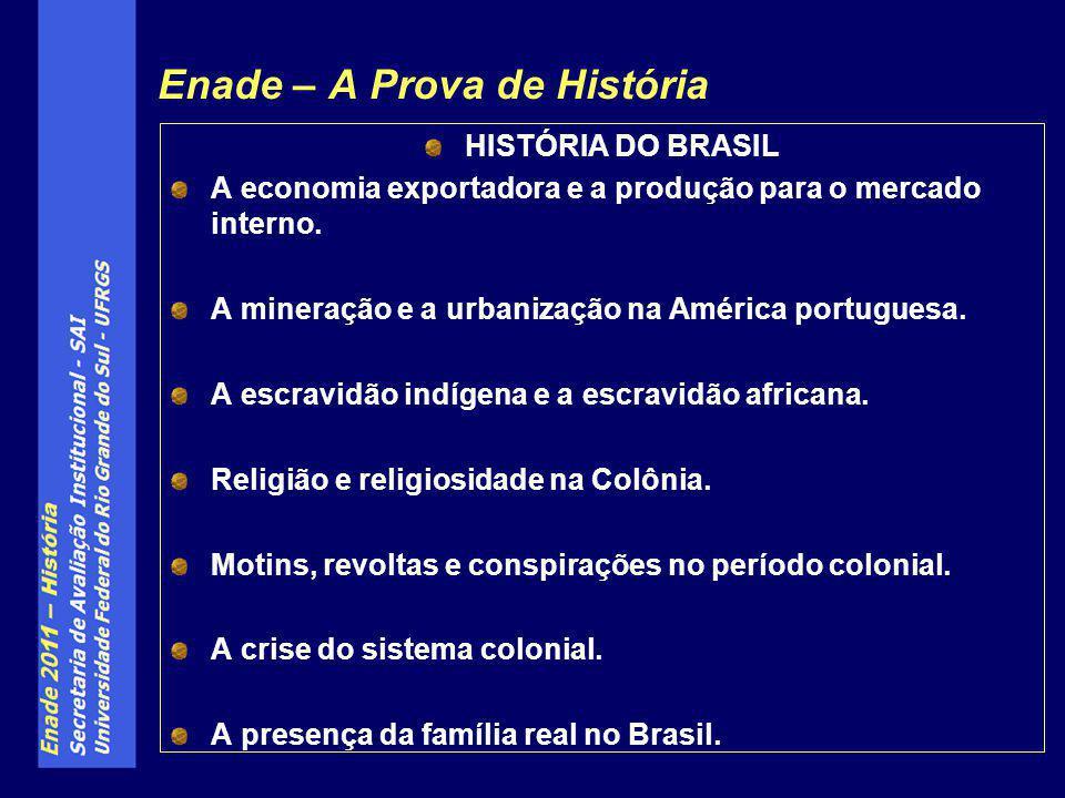 HISTÓRIA DO BRASIL A economia exportadora e a produção para o mercado interno. A mineração e a urbanização na América portuguesa. A escravidão indígen