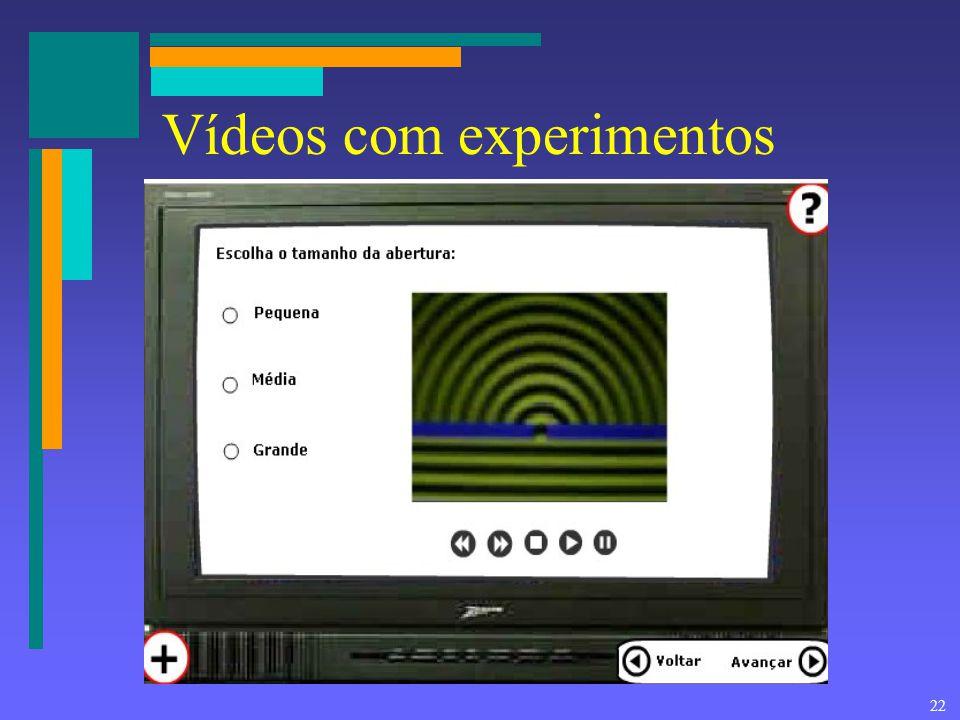 22 Vídeos com experimentos