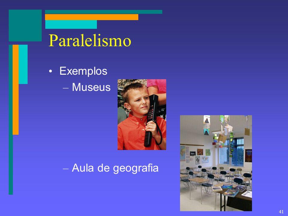41 Paralelismo Exemplos – Museus – Aula de geografia