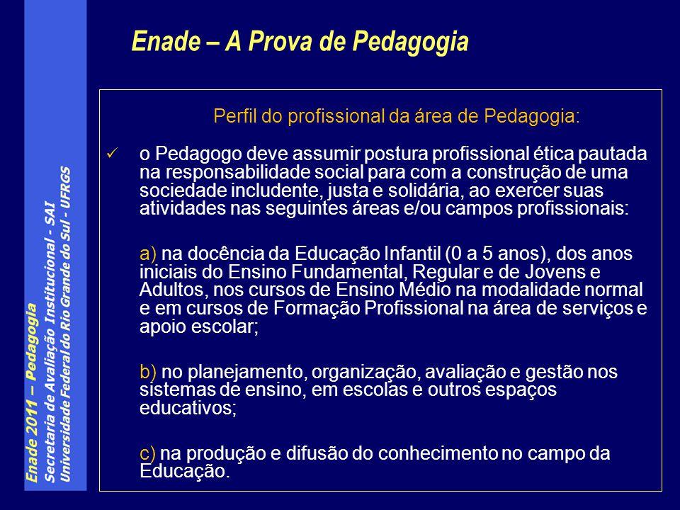 Perfil do profissional da área de Pedagogia: o Pedagogo deve assumir postura profissional ética pautada na responsabilidade social para com a construç