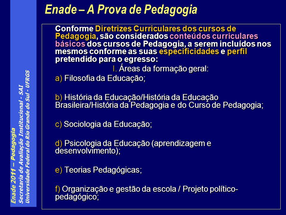 Conforme Diretrizes Curriculares dos cursos de Pedagogia, são considerados conteúdos curriculares básicos dos cursos de Pedagogia, a serem incluídos n