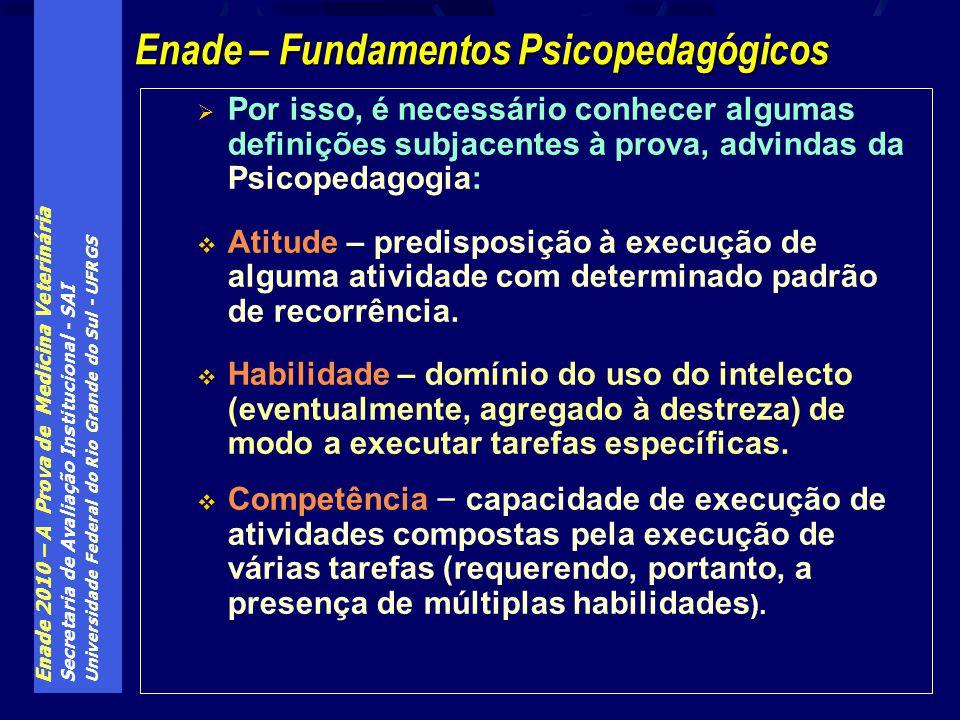 Enade 2010 – A Prova de Medicina Veterinária Secretaria de Avaliação Institucional - SAI Universidade Federal do Rio Grande do Sul - UFRGS Por isso, é