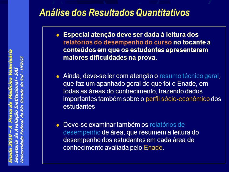 Enade 2010 – A Prova de Medicina Veterinária Secretaria de Avaliação Institucional - SAI Universidade Federal do Rio Grande do Sul - UFRGS Especial at